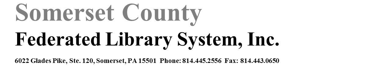 Somerset County Federated Library System, Inc.